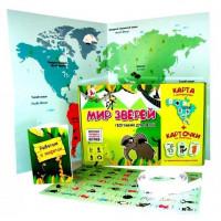 Игра Мир зверей.География для детей.Развитие памяти и внимания с карточками Р2329
