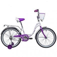 """Велосипед 2-х 20"""" BUTTERFLY бел-фиолетовый"""