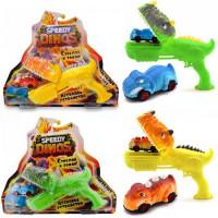 """Игров. набор Скоростные динозавры"""" с 1 фрикционной машинкой и пусковым устройством, K02SPD003"""