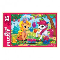 Пазл 35 МАКСИ Пони на празднике ПМ-6364