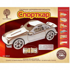 Дер. констр-р Спорткар-1 с резиновым двигателем 80141