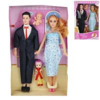 Кукла 5607 Семья с аксесс., в кор.
