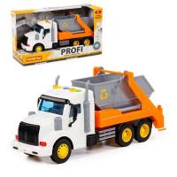 Автомобиль Профи контейнеровоз инерционный со светом и звуком оранжевый в кор. 86266 П-Е /8/