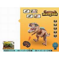 Динозавр р/у 181F подсветка, звук в кор.