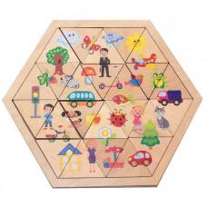 Дер. Пазл Мир вокруг Занимательные треугольники 00777