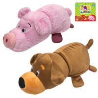 Игрушка Вывернушка 2 в 1 Собака-Свинья 35 см 1toy Т13796