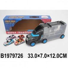 Автовоз 4558-2 с набором машин в кор.