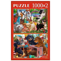 Пазл 2 в 1 1000+1000 Игривые щенки ХП1000-4315