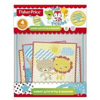 Набор для игры в ванной Funny puzzle 4 пазла+мелки в ПОДАРОК Fisher Price Mattel 10014