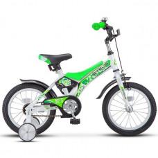 """Велосипед 2-х 14"""" Jet белый/салатовый Z010 /STELS/"""