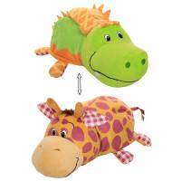 Игрушка Вывернушка 2 в 1 Ням-Ням Крокодильчик яблочный пирог,Жираф арахисовая паста 40см 1toy Т13924