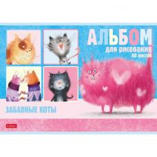 Альбом д/рис. 40 л. Забавные коты 40А4В Hatber