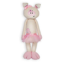 Свинка С цветочком в юбочке 33 см МТ-МRT031830-33