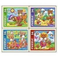 Пазл 24 Забавные мишки П24-9915
