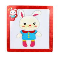Дер. Пазл-рамка магнитная Кролик AN02663