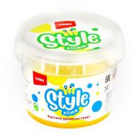 Лизун STYLE SLIME блестящий Жёлтый с ароматом банана 120мл. Сл-008 LORI