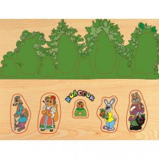 Дер. Рамка вкладыш Колобок в лесу D109