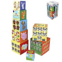 Игра BRIGHT KIDS.Разумные детки. Кубики-пирамидка Веселый небоскреб И-5033
