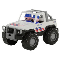 Автомобиль Джип полиция Сафари в сетке 71101 /П-Е/ /16/