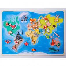 Дер. Карта хищиные животные 30205