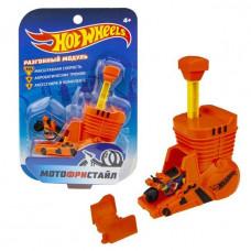 Hot Wheels Мотофристайл в компл.:инерц. мотобайк, турбо ускоритель, коннектор, 1 аксессуар Т16718