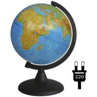 Глобус физич. 210мм с подсветкой 10006