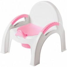 Горшок детский стульчик светло-розовый 431326733