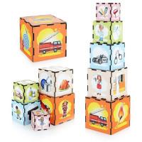 Дер. Кубики - пирамидки - Профессии ПСД015