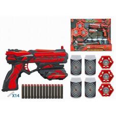 Бластер FJ901 с безопасными пулями и аксес, в кор.