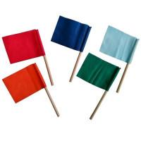 Флажок на деревянной палочке ( 4 основных цвета ) ИИ06