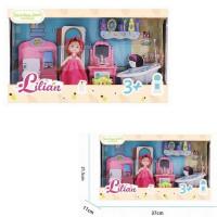 Кукла 86012 Lilian ванная комната с аксесс. в кор.