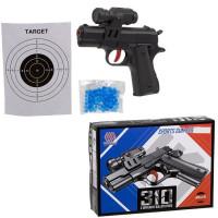 Пистолет пневм. 181037 пластиковые и гелевые пули