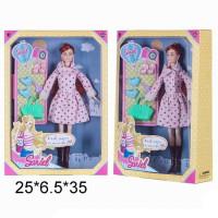 Кукла 7751-В Sariel  в пальто с аксесс. в кор.