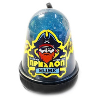 Лизун Прихлоп 130гр Люминофор голубой 00098