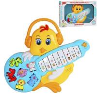 """Пианино обучающее """"Цыпленок"""" цвет желтый, 42 звука, мелодии, стихи 1590384-R1"""