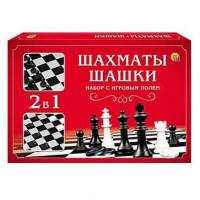 Шахматы,шашки в сред.коробке с полями ИН-1614
