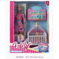 Кукла 99231 Anlily укладываем малыша спать, с аксесс. в кор.