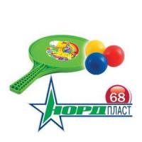 Набор игровой №68 431781 ракетка, 3 шарика