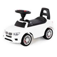 Каталка-автомобиль SuperCar №5 со звуковым сигналом белая 84538 П-Е /1/