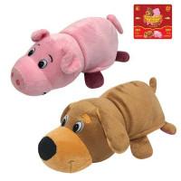 Игрушка Вывернушка 2 в 1 Собака-Свинья 20 см 1toy Т13797-18