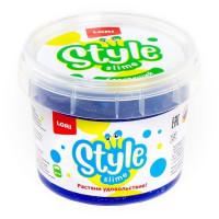 Лизун STYLE SLIME блестящий Синий с ароматом тутти-фрутти 120мл. Сл-009 LORI