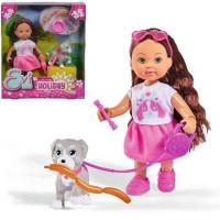 ЕВИ Кукла с собачкой и аксессуарами Holiday 12 см 5733272029