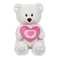 Мишка Белый с Сердцем 23см MT-SUT061705-23