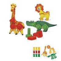 """Болты и Гайки тип 2 """"Зоопарк"""" 9 болтов и 9 гаек, детали животных 1412 в пак."""