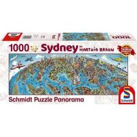 Пазл 1000 Хартвиг Браун Панорама города- Сидней 59595 Schmidt