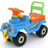 Каталка Джип 4*4 № 4 голубой 71811 П-Е /3/
