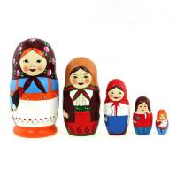 Дер. Матрешка Старорусская жжёнка 5 шт SMS0502abw-01U