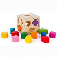 Дер. Логич. игрушка Сортер Геометрические фигуры 14 дет. 967
