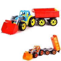Трактор с ковшем и прицепом Т3688 Технок