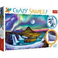 Пазл 600 Северное сияние над Исландией, Crazy Shapes TR11114 TREFL